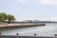 Suger plaży molo Toronto, Kanada Obraz Stock