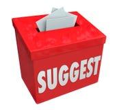 Sugeruje słowo uległości pudełka pomysłów komentarzy propozycj informacje zwrotne ilustracja wektor