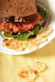 Sugestão do serviço do sanduíche de BLT Foto de Stock Royalty Free