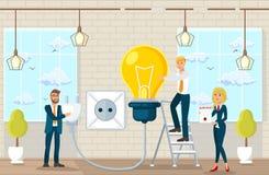 Sugestões e ideias de fatura lisas no escritório de advogados ilustração do vetor