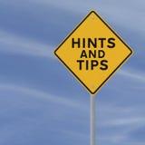 Sugestões e pontas Fotografia de Stock Royalty Free