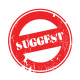 Suggest rubber stamp Stock Images