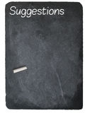 Suggestion box concept using chalk on slate blackboard Stock Photography