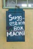 Suggestion box at Pepo La Tumaini Jangwani, HIV/AIDS Community Rehabilitation Program, Orphanage & Clinic.  Pepo La Tumaini Jangwa Royalty Free Stock Photography