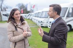 Suggestion on camper vans. Suggestion on the camper vans Stock Images
