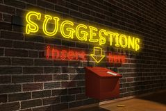Suggestions Box - Side View Stock Photography