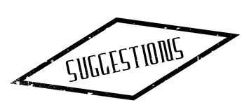 Suggestions rubber stamp Stock Image