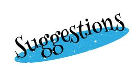 Suggestions rubber stamp. Grunge design with dust scratches. Effects can be easily removed for a clean, crisp look. Color is easily changed vector illustration