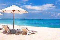 Suggestiv strandplats royaltyfri bild