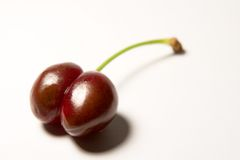 Suggestive cherry 2. A ripe juicy cherry Stock Photos