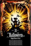 Suggestive Halloween Grunge Style Flyer stock illustration