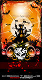 Suggestive Hallowen Party Disco Flyer. Suggestive Hallowen Disco Party Flyer for Entertainment Night Event Stock Image