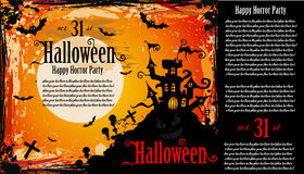 Suggestive Hallowen Party Flyer. For Entertainment Night Event Royalty Free Stock Images
