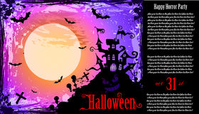 Suggestive Hallowen Party Flyer Royalty Free Stock Photography