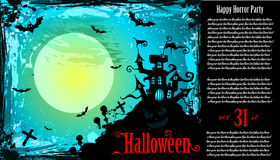 Suggestive Hallowen Party Flyer. For Entertainment Night Event Stock Image