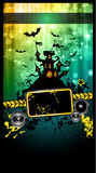 Suggestive Hallowen Party Flyer. For Entertainment Night Event with a lot of space for your text Stock Image