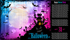 Suggestive Hallowen Party Flyer. For Entertainment Night Event with a lot of space for your text Royalty Free Stock Photos