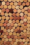 Sugheri del vino impilati Fotografia Stock Libera da Diritti