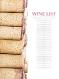 Sugheri del vino isolati su bianco Immagini Stock Libere da Diritti