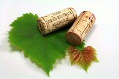 Sugheri delle bottiglie di vino Immagini Stock Libere da Diritti