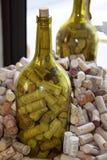 Sugheri delle bottiglie di vino Fotografie Stock Libere da Diritti