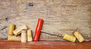 Sugheri e cavaturaccioli del vino Fotografia Stock Libera da Diritti