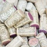 Sugheri usati del vino Fotografia Stock