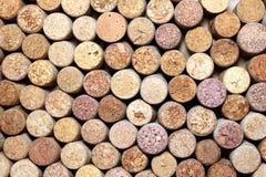 Sugheri usati/molti del vino sugheri del vino Fotografia Stock