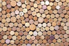 Sugheri usati/molti del vino sugheri del vino Fotografia Stock Libera da Diritti