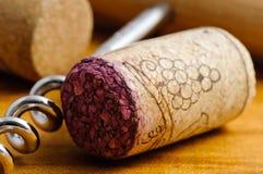 Sughero del vino Immagini Stock
