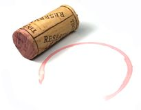 Sughero del vino Fotografie Stock