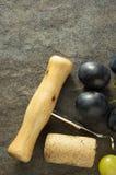 Sughero del vino e della cavaturaccioli Fotografia Stock