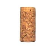 Sughero del vino isolato su fondo bianco Immagine Stock Libera da Diritti