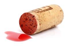 Sughero del vino rosso Immagini Stock Libere da Diritti