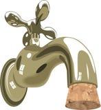 Sughero dell'impianto idraulico del dispersore delle acque di rubinetto del rubinetto illustrazione vettoriale