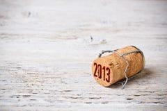 Sughero di Champagne Fotografia Stock
