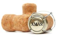 Sughero su priorità bassa bianca Natale Fotografia Stock