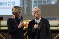 渡边博史Sugimoto、著名摄影师和艺术家,在佛罗伦萨,意大利 免版税图库摄影