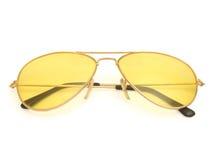 Suglasses. Yellow sunglasses on white background Stock Photography