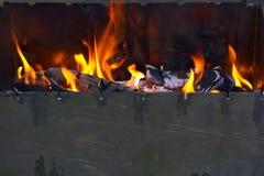 Suglyami del fuoco e del barbecue, all'aperto Fotografia Stock Libera da Diritti