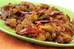 Sugo indiano del pollo del peperoncino rosso Immagini Stock Libere da Diritti