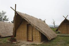 Sugrör som förlägga i barack i Thailand Arkivbilder