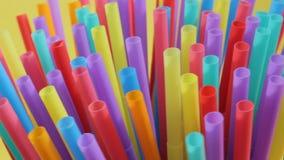 sugrörsugrörplast- som dricker bruk för full skärm för bakgrund färgglat enkelt lager videofilmer