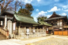 Sugyo-jo sala, część Narita San Świątynny kompleks na słonecznym dniu Fotografia Stock
