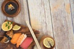 Suhi морепродуктов с космосом экземпляра стоковая фотография rf