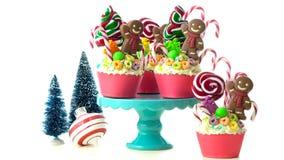 Sui bigné festivi di Natale della terra della caramella di tendenza immagine stock libera da diritti