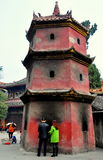 Sui Ning, China: Document Brandende Pagode stock foto's
