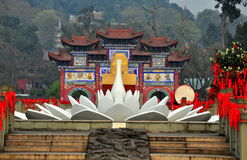 Sui Ning, China: Guang De Si Temple stock foto