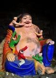 Sui Ning, Chine : Bouddha avec les figures miniatures Images libres de droits