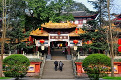 Sui Ning, Chine : Guang De Si Buddhist Temple photos stock